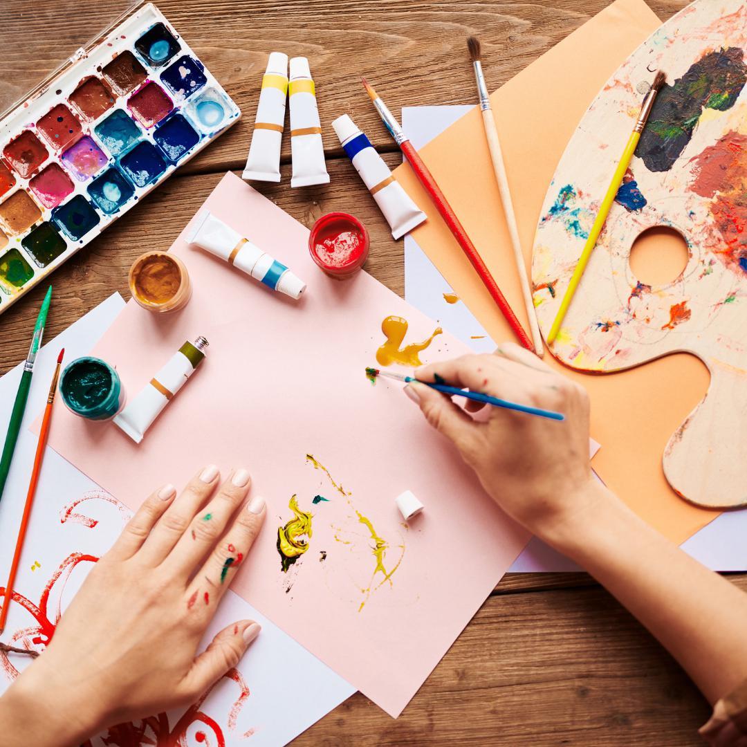 Virtual Paint & Sips + Premium Art Kit Shipping